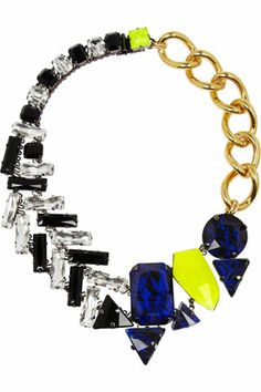 Vickisarge Pow! Gold-Plated Swarovski Crystal Necklace