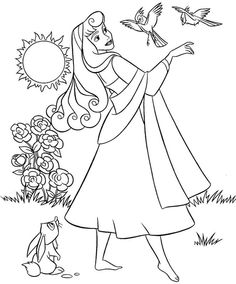Sleeping Beauty Coloring Pages For Kids Printable Free