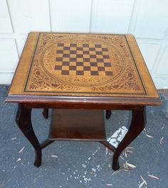 http://www.rubylane.com/item/261424-12-505/Painted-pine-checkerboard-table