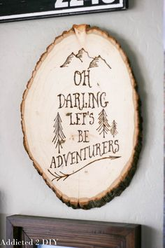 This wood burned wall art looks AMAZING! It's such a great piece for a gallery wall or a gift idea. The tutorial also includes the design to copy it!
