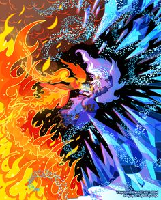 Flame Princess VS Ice Queen by Yamino.deviantart.com - Adventure Time