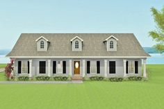 Southern Style House Plan - 3 Beds 2.50 Baths 2189 Sq/Ft Plan #44-145 Exterior - Front Elevation - Houseplans.com