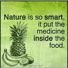 Let medicine be thy food and let food be thy medicine. Nature knows best.  #health #plantbased @plantpowerz