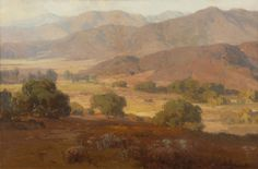 "Hanson Duvall Puthuff (1875-1972 Corona Del Mar, CA) Foothill landscape, oil on canvas 40"" x 60"""