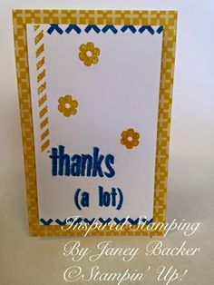 Inspired Stamping by Janey Backer: Mother's Day + Paper Pumpkin, Stampin' Up!, gift idea, April kit