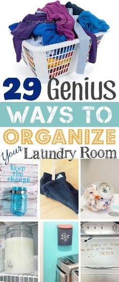 Incredibly clever laundry room organization ideas! I especially like the lint idea. by julianne