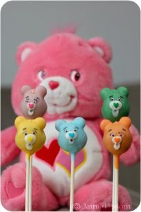 Care Bears cake pops