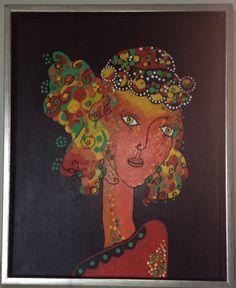 Abstrakt maleri, akryl 2015