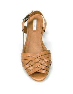 criss cross tan sandals