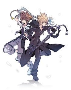 Sora and Roxas Kingdom Hearts 3, Kingdom Hearts Wallpaper, Kingdom Hearts Characters, Cry Anime, Anime Art, Heart Pictures, Girls Anime, Disney And Dreamworks, Disney Pixar