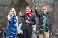 Evanna Lynch and Tom Felton help open Universal Studios Japan's Wizarding World of Harry Potter