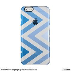 Blue Ombre Zigzags Clear iPhone 6/6S Case
