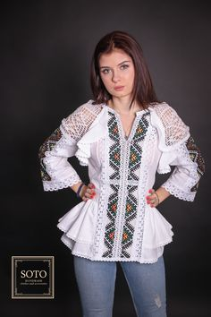 Items similar to Linen hand embroidered blouse Mexican shirt Ukrainian embroidery Bohemian blouse Peplum top Vyshyvanka Long sleeve cotton blouse on Etsy Embroidery Suits Design, Vintage Embroidery, Mexican Embroidery, Folk Embroidery, Girls Frock Design, Kids Frocks Design, Designer Party Wear Dresses, Kurti Designs Party Wear, Dress Over Jeans