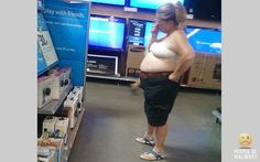 I personally have never forgotten to put a shirt on before I went to Wal-Mart