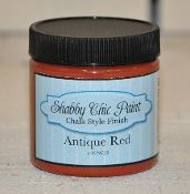 4oz. Shabby Chic Antique Red Chalk Style Finish Paint