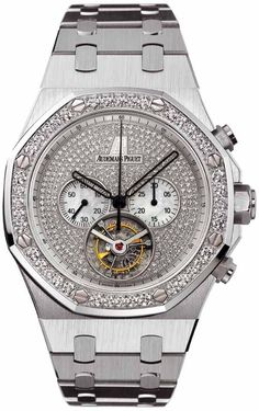 Audemars Piguet Royal Oak Diamond Chronograph 18 kt White Gold Men's Watch 26039BC.ZZ.1205BC.01
