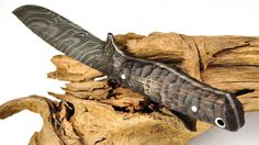 handmade (Germany) Small Bowie Outdoor Knife by Schmiedeglut Outdoor Knife, Kydex, Custom Knives, Damascus Steel, Bowie, Hunting Knives, Tools, Sword, Tattoos