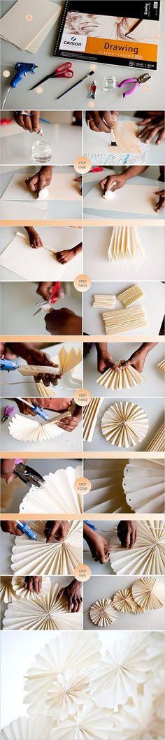 Faça você mesmo: Flor de leque de papel