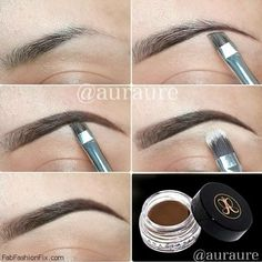 How to fill in eyebrows with makeup routine? #beauty #eyebrows #browstutorial