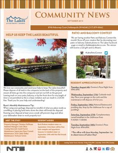 apartment complex sample newsletter sample newsletters pinterest