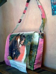 Messenger Bags from upcycled feed bags