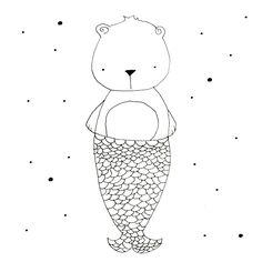 Whimsical illustrations, line art, line drawings, woodland creatures, Bear illustration • #linedrawing #childrenillustrator #childrenbookillustration #woodlandcreatures