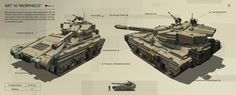 concept art blog featuring tank concept art from realistic to sci-fi video game movie art