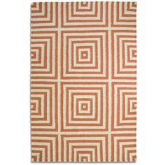 Plantation Rug Company Orange Frankie Rug £150 x 230cm flat weave £175
