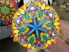 Cube, Symbols, Lazy Susan, Trays, Garden, Arts And Crafts, Mosaics, Flowers, Mesas
