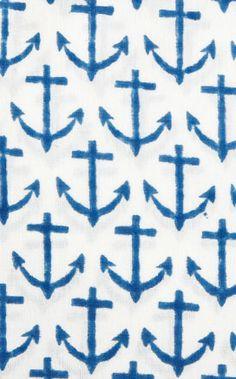rikshaw design anchor fabric in 100% Indian cotton voile.