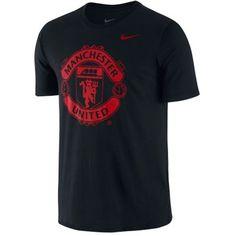 Manchester United Nike Core Crest T-Shirt - Black