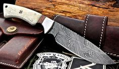 Knives & Daggers - Handmade Damascus Steel Hunting Knife for sale in Belfast