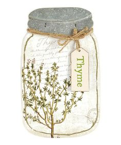 Another great find on #zulily! Thyme Jar Sign #zulilyfinds