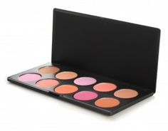10 Color Professional Blush Palette  Makeup artists clamor for this blush palette's exciting, versatile colors. A beautiful bouquet of hues, from plush peaches and jazzy pinks to intense reds, blooms in both creamy mattes and iridescent shimmers. You'll love it!