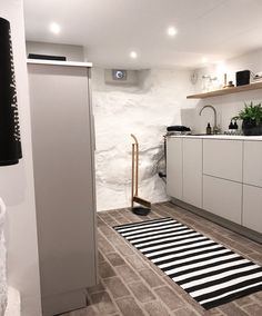Soft Flooring, Types Of Flooring, Refinish Stairs, Best Flooring For Basement, New Staircase, Basement Laundry, Laundry Room Design, Minimalist Interior, Small Rooms