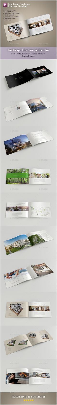 Real Estate Landscape Brochure  Brochures Print Templates And