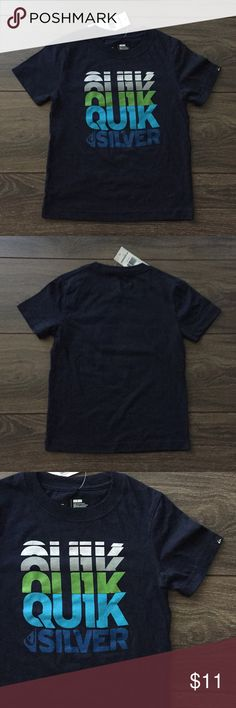 (NEW) Quiksilver Boy's T-Shirt Brand new. Tag attached. Plain on back.  Size: 5 Boys Color: Navy Material: 60% cotton/40% polyester ☑️ Smoke/pet free ☑️ No trades - don't ask ☑️ Item is available for purchase - no need to ask ☑️ Ships out same day from Southern CA  THANKS FOR LOOKING!! PLEASE BE SURE TO CHECK OUT MY OTHER CLOSET ITEMS!! 💕💕💕 Quiksilver Shirts & Tops
