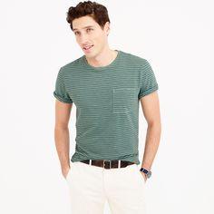 bfa72b29b1ec J.Crew Mens Tall Garment-Dyed T-Shirt In Microstripe (Size M