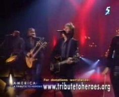 Still remember this being the one performance that struck just the right tone in the aftermath of 9-11.  Take my hand, we'll make it I swear.  Bon Jovi - Living on a Prayer - 9-11 A Tribute To Heroes