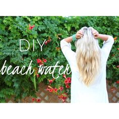 Make your own Beach Hair Spray at home. www.isabellasarray.blogspot.com