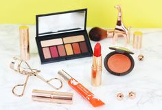 Orange makeup picks for summer including blusher, lipstick and shadow https://link.crwd.fr/3oW