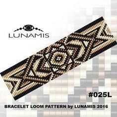 Bracelet pattern, loom pattern, square stitch pattern, pdf file, pdf pattern, cuff, #025L