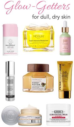 Take your skin from drab to fab! Whether you have dull, dry skin or just looking to step up your skincare game, here are the best skincare products for glowing skin!