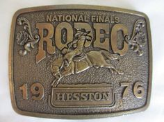 1976 Hesston National Final Rodeo Belt Buckle