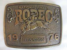 1976 Hesston National Final Rodeo Belt Buckle