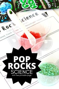 Pop Rocks Science Activity with the 5 senses