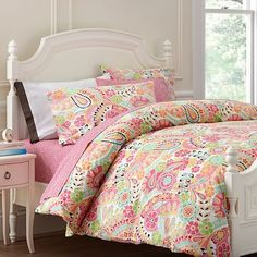 Eden -pretty with blue/teal walls Paisley Pop Duvet Cover + Pillowcases