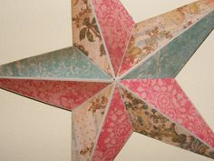 Shabby Chic Floral Decorated Barn Star