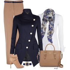 A fashion look from November 2014 featuring NIC+ZOE blouses, Vivienne Westwood Anglomania coats and Windsmoor pants. Browse and shop related looks.