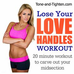 Lose Your Love Handles Workout- a 20 minute at-home workout that will tone your midsection